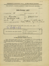 Popis prebivalstva 31. 3. 1931<br />Ljubljana<br />Pokopališka cesta 10<br />Population census 31 March 1931