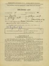 Popis prebivalstva 31. 3. 1931<br />Ljubljana<br />Pokopališka cesta 29<br />Population census 31 March 1931