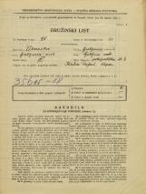 Popis prebivalstva 31. 3. 1931<br />Ljubljana<br />Pokopališka cesta 6<br />Population census 31 March 1931