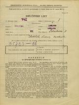 Popis prebivalstva 31. 3. 1931<br />Ljubljana<br />Polakova ulica 11<br />Population census 31 March 1931