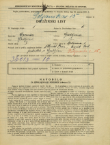 Popis prebivalstva 31. 3. 1931<br />Ljubljana<br />Poljanska cesta 15<br />Population census 31 March 1931