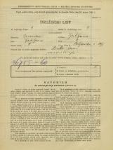 Popis prebivalstva 31. 3. 1931<br />Ljubljana<br />Poljanska cesta 20<br />Population census 31 March 1931