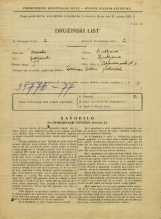 Popis prebivalstva 31. 3. 1931<br />Ljubljana<br />Poljanska cesta 3<br />Population census 31 March 1931
