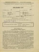 Popis prebivalstva 31. 3. 1931<br />Ljubljana<br />Poljanska cesta 31<br />Population census 31 March 1931