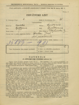Popis prebivalstva 31. 3. 1931<br />Ljubljana<br />Poljanska cesta 9<br />Population census 31 March 1931