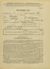 Popis prebivalstva 31. 3. 1931<br />Ljubljana<br />Poljanska cesta 42<br />Population census 31 March 1931