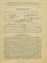 Popis prebivalstva 31. 3. 1931<br />Ljubljana<br />Poljanska cesta 43<br />Population census 31 March 1931