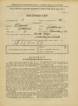 Popis prebivalstva 31. 3. 1931<br />Ljubljana<br />Poljanska cesta 52<br />Population census 31 March 1931