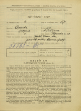 Popis prebivalstva 31. 3. 1931<br />Ljubljana<br />Poljanska cesta 58<br />Population census 31 March 1931
