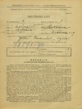 Popis prebivalstva 31. 3. 1931<br />Ljubljana<br />Poljanska cesta 59<br />Population census 31 March 1931