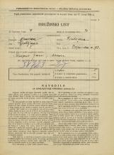 Popis prebivalstva 31. 3. 1931<br />Ljubljana<br />Poljanska cesta 73<br />Population census 31 March 1931