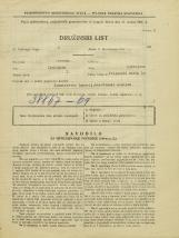 Popis prebivalstva 31. 3. 1931<br />Ljubljana<br />Poljanski nasip 10<br />Population census 31 March 1931