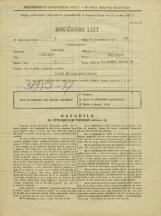 Popis prebivalstva 31. 3. 1931<br />Ljubljana<br />Poljanski nasip 34<br />Population census 31 March 1931