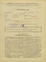 Popis prebivalstva 31. 3. 1931<br />Ljubljana<br />Poljanski nasip 48<br />Population census 31 March 1931
