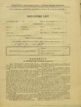 Popis prebivalstva 31. 3. 1931<br />Ljubljana<br />Poljanski nasip 52<br />Population census 31 March 1931
