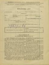 Popis prebivalstva 31. 3. 1931<br />Ljubljana<br />Poljanski nasip 54<br />Population census 31 March 1931