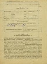 Popis prebivalstva 31. 3. 1931<br />Ljubljana<br />Poljanski nasip 6<br />Population census 31 March 1931