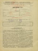 Popis prebivalstva 31. 3. 1931<br />Ljubljana<br />Poljanski nasip 60<br />Population census 31 March 1931