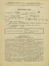 Popis prebivalstva 31. 3. 1931<br />Ljubljana<br />Pot na Rakovo jelšo NN5<br />Population census 31 March 1931