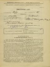 Popis prebivalstva 31. 3. 1931<br />Ljubljana<br />Pot na Rakovo jelšo NN7<br />Population census 31 March 1931