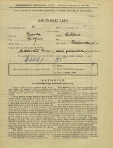 Popis prebivalstva 31. 3. 1931<br />Ljubljana<br />Predjamska ulica 8<br />Population census 31 March 1931
