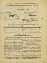 Popis prebivalstva 31. 3. 1931<br />Ljubljana<br />Prekmurska cesta 1<br />Population census 31 March 1931
