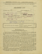 Popis prebivalstva 31. 3. 1931<br />Ljubljana<br />Prekmurska cesta 2<br />Population census 31 March 1931