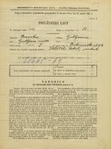 Popis prebivalstva 31. 3. 1931<br />Ljubljana<br />Prekmurska cesta 6<br />Population census 31 March 1931
