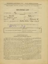 Popis prebivalstva 31. 3. 1931<br />Ljubljana<br />Prešernova ulica 54<br />Population census 31 March 1931