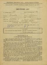 Popis prebivalstva 31. 3. 1931<br />Ljubljana<br />Prisojna ulica 1<br />Population census 31 March 1931