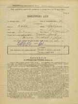 Popis prebivalstva 31. 3. 1931<br />Ljubljana<br />Prisojna ulica 3<br />Population census 31 March 1931