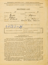 Popis prebivalstva 31. 3. 1931<br />Ljubljana<br />Resljeva ulica 1<br />Population census 31 March 1931