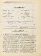 Popis prebivalstva 31. 3. 1931<br />Ljubljana<br />Resljeva ulica 12<br />Population census 31 March 1931