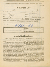 Popis prebivalstva 31. 3. 1931<br />Ljubljana<br />Resljeva ulica 22<br />Population census 31 March 1931
