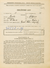 Popis prebivalstva 31. 3. 1931<br />Ljubljana<br />Resljeva ulica 3<br />Population census 31 March 1931
