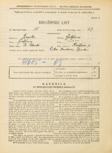 Popis prebivalstva 31. 3. 1931<br />Ljubljana<br />Resljeva ulica 7<br />Population census 31 March 1931