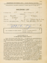 Popis prebivalstva 31. 3. 1931<br />Ljubljana<br />Riharjeva ulica NN1<br />Population census 31 March 1931