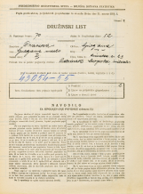 Popis prebivalstva 31. 3. 1931<br />Ljubljana<br />Rimska cesta 23<br />Population census 31 March 1931
