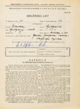 Popis prebivalstva 31. 3. 1931<br />Ljubljana<br />Rimska cesta 24<br />Population census 31 March 1931