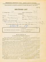 Popis prebivalstva 31. 3. 1931<br />Ljubljana<br />Rimska cesta 6<br />Population census 31 March 1931