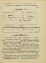 Popis prebivalstva 31. 3. 1931<br />Ljubljana<br />Rožna ulica 33<br />Population census 31 March 1931