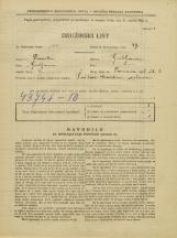 Popis prebivalstva 31. 3. 1931<br />Ljubljana<br />Samova ulica 6<br />Population census 31 March 1931