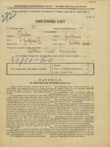Popis prebivalstva 31. 3. 1931<br />Ljubljana<br />Savska cesta 1<br />Population census 31 March 1931