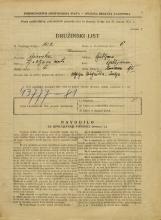 Popis prebivalstva 31. 3. 1931<br />Ljubljana<br />Slomškova ulica 1<br />Population census 31 March 1931