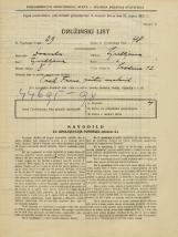 Popis prebivalstva 31. 3. 1931<br />Ljubljana<br />Sredina 12<br />Population census 31 March 1931