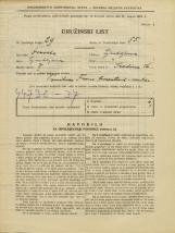 Popis prebivalstva 31. 3. 1931<br />Ljubljana<br />Sredina 16<br />Population census 31 March 1931