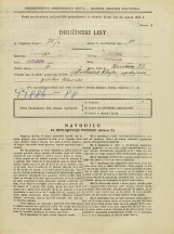 Popis prebivalstva 31. 3. 1931<br />Ljubljana<br />Staničeva ulica 22<br />Population census 31 March 1931