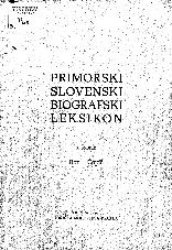 Primorski slovenski biografski leksikon<br />3. snopič<br />Bor - Čopič