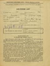Popis prebivalstva 31. 3. 1931<br />Ljubljana<br />Stari trg 19<br />Population census 31 March 1931
