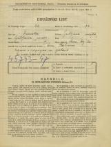 Popis prebivalstva 31. 3. 1931<br />Ljubljana<br />Stari trg 20<br />Population census 31 March 1931